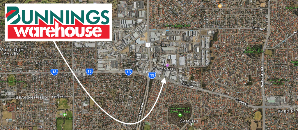 Bunnings O'Connor Location