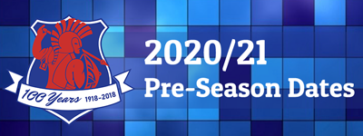 Pre-Season Dates 2020 Advert